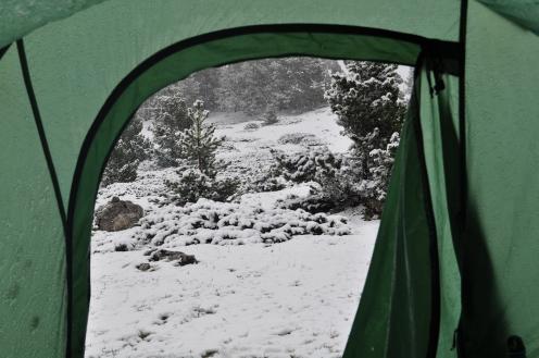 Erwachen im Schnee- Vercos (Mai 2014)