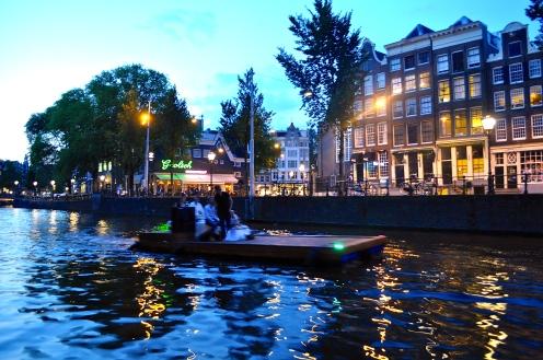 Amsterdam bei Nacht (August 2014)