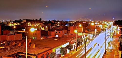 nächtliches Treiben in -Lima
