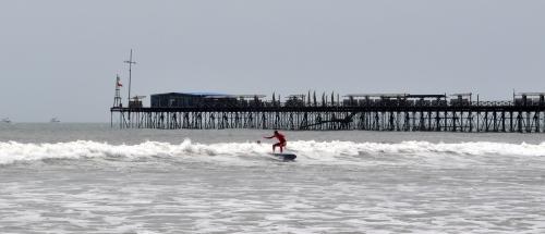 Mein erstes Mal auf dem Surfbrett.