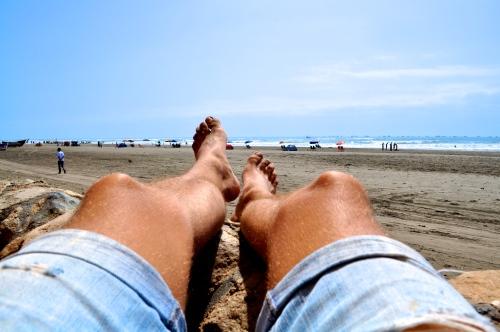 Nach Sport und Essen, die Füße hochlegen - Pimentel